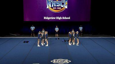 Ridgeview High School [2021 Small Coed Non Tumbling Finals] 2021 UCA National High School Cheerleading Championship