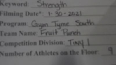 Gym Tyme - Fruit Punch [L1 Tiny] 2021 Varsity All Star Winter Virtual Competition Series: Event II