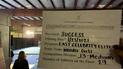 East Celebrity Elite - Wonder Girls [L3 Junior - Medium] 2021 Athletic Championships: Virtual DI & DII