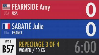 50 kg Repechage - Amy Fearnside, USA vs Julie Sabatié, France