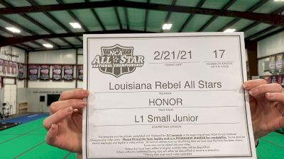 Louisiana Rebel All Stars - Honor [L1 Junior - Small] 2021 NCA All-Star Virtual National Championship
