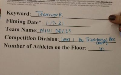 Devil Cheerleading - Mini Red Devils [L1 Traditional Rec 8 & Younger (AFF)] 2021 Varsity Recreational Virtual Challenge II