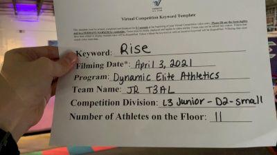 Dynamic Elite Athletics - JR T3AL [L3 Junior - D2 - Small] 2021 The Regional Summit Virtual Championships