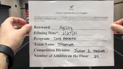 Core Athletix - Titanium [L1 Junior - Medium] 2021 Varsity All Star Winter Virtual Competition Series: Event III