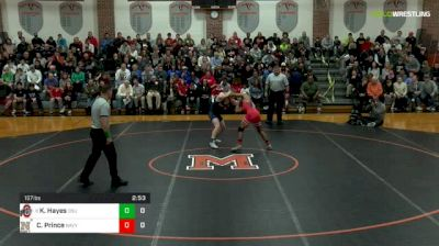 157 lbs Dual - Ke-Shawn Hayes, Ohio State vs Connor Prince, Navy