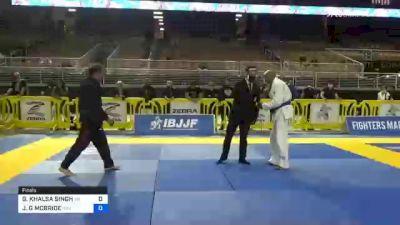 GURJOT KHALSA SINGH vs JEROME G MCBRIDE 2020 World Master IBJJF Jiu-Jitsu Championship