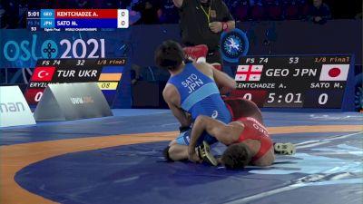 74 kg Round Of 16 - Avtandil Kentchadze, Georgia vs Masaki Sato, Japan