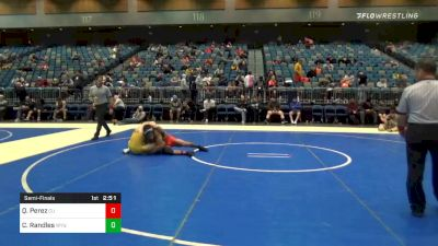 165 lbs Semifinal - Quentin Perez, Campbell vs Casey Randles, Wyoming