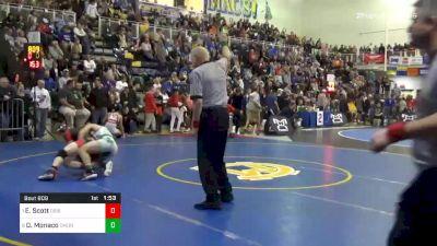 152 lbs Quarterfinal - Ed Scott, Dubois vs Dante Monaco, Camden Catholic-NJ