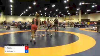 97 kg Quarterfinal - Kobe Woods, Burg Training Center vs Brandon Whitman, Tar Heel Wrestling Club