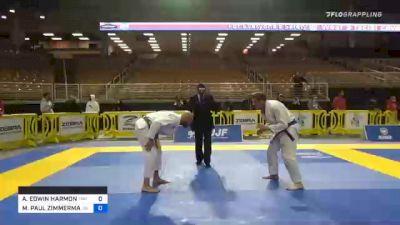 ANDREW EDWIN HARMON vs MICHAEL PAUL ZIMMERMAN 2020 World Master IBJJF Jiu-Jitsu Championship