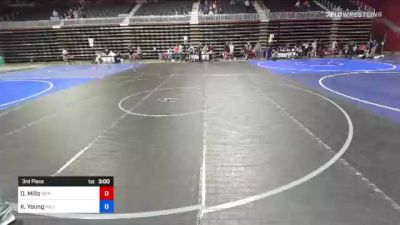 132 kg 3rd Place - Darly Mills, Sierra WC vs Keyton Young, Palisade