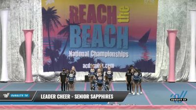 Leader Cheer - Senior Sapphires [2021 L3 Performance Recreation - 18 and Younger (NON)] 2021 Reach the Beach Daytona National