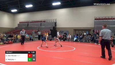 80 lbs Prelims - Chase Van Hoven, Team Shutt (PA) vs Davis Motyka, M2 Training Center (PA)