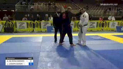 ARON DA ROSA BORGES ROICHMAN vs JASON JOSEPH BARON 2021 Pan Jiu-Jitsu IBJJF Championship