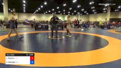 67 kg Prelims - Lenny Merkin, Unattached vs Chandler Michael, Peninsula Wrestling Club