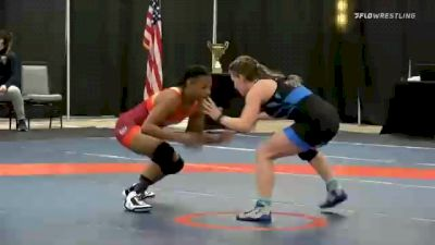 57 kg Final - Gracie Figueroa, Team Winchester vs Abigail Nette, Team Mensah Stock