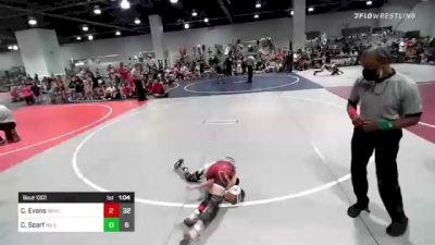 65 lbs Rr Rnd 1 - Cruz Evans, Bracket Bullies vs Cayden Scarf, No Escape