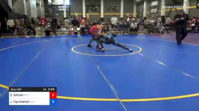 74 kg Prelims - Derek Gilcher, Michigan vs Joshua Ogunsanya, New York City RTC