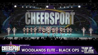 Woodlands Elite - OR - Black Ops [2020 L6 Senior Medium Coed Day 1] 2020 CHEERSPORT Nationals: Friday Night Live