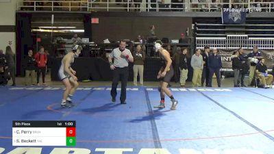 145 lbs 5th Place - Chris Perry, Brunswick School vs Sam Beckett, The Hill School