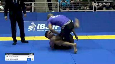 MICHAEL JC DAWSON vs ERIC P WILLIAMS 2021 World IBJJF Jiu-Jitsu No-Gi Championship