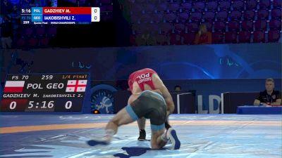 70 kg 1/4 Final - Magomedmurad Gadzhiev, Poland vs Zurabi Iakobishvili, Georgia