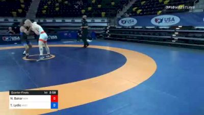 67 kg Quarterfinal - Nolan Baker, New York Athletic Club vs Ty Lydic, Westmoreland County Wrestling Club