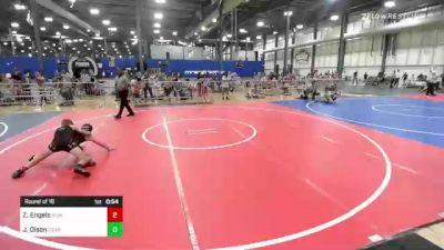 106 lbs Round Of 16 - Zane Engels, Summit vs Jack Olson, Crass Trained