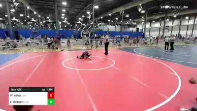 65 lbs Rr Rnd 3 - Wyler Allen, Lions Wrestling Academy vs Ethan Krausz, Aywc