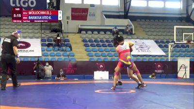 50 kg Semifinal - Jacqueline Del Rocio Mollocana Eleno, Ecuador vs Kamila Barbosa Vito Da Silva, Brazil