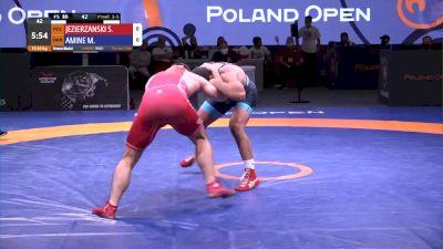 86 kg Bronze - Sebastian Jezierzanski, POL vs Myles Amine, SMR