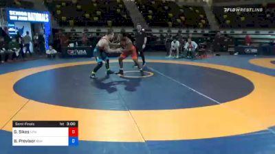 82 kg Semifinal - George Sikes, New York Athletic Club vs Ben Provisor, New York Athletic Club