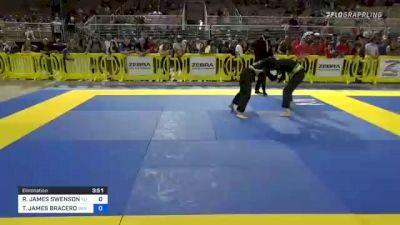 RHONIN JAMES SWENSON vs TYLER JAMES BRACERO 2021 Pan Kids Jiu-Jitsu IBJJF Championship