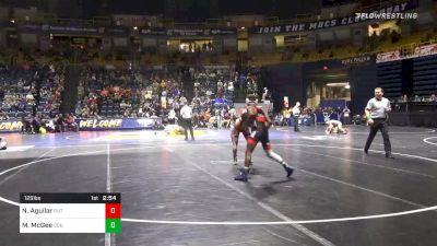 125 lbs Quarterfinal - Nic Aguilar, Rutgers vs Michael McGee, Old Dominion