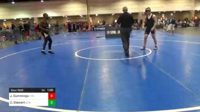 170 lbs Consolation - Jud Cummings, Virginia vs Cedric Stewart, Georgia
