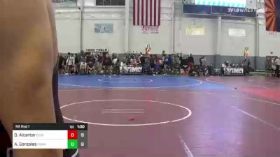 132 lbs Rr Rnd 1 - Derrick Alcantar, Genesis Academy Boys vs Andre Gonzales, Poway Black Team