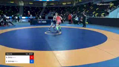 77 kg Quarterfinal - Alec Ortiz, Minnesota Storm vs Zachary Grimes, Colorado