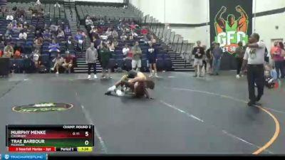 160 lbs Champ. Round 2 - Murphy Menke, Colorado vs Trae Barbour, Michigan
