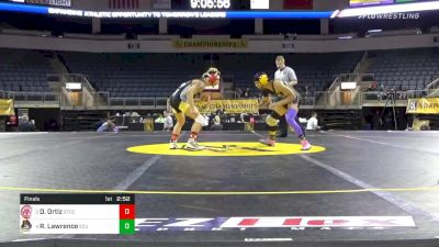133 lbs Final - David Ortiz, Springfield Technical Community College vs Rahsun Lawrence, East Carolina University