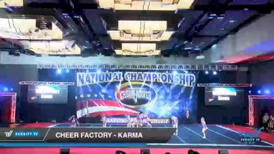 Cheer Factory - Karma [2021 L3 Junior - D2 - A Day 3] 2021 ACP Southern National Championship