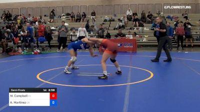 50 kg Semifinal - Mckayla Campbell, Team Kentucky vs Alleida Martinez, Team California