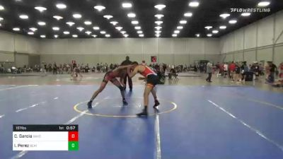 157 lbs Consolation - Carlos Garcia, Oakdale Youth Wrestling Club vs Isael Perez, Beat The Streets Providence