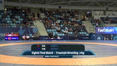 71 kg 1/8 Final - Levi David Haines, United States vs Cengizhan Ramazan Dogan, Turkey