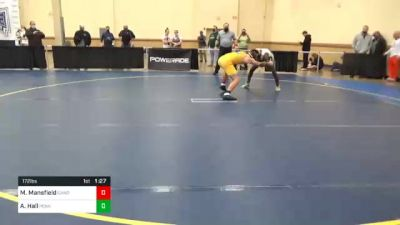 172 lbs Semifinal - Michael Mansfield, Canon McMillan vs Adam Hall, Penn Trafford