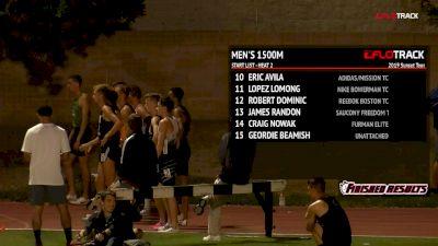 Men's 1500m, Heat 2 - Ben Blankenship 3:36 FTW, Donavan Brazier 3:37!