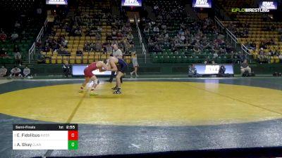 149 lbs Semifinal - Evan Fidelibus, Rider University vs Avery Shay, Clarion University