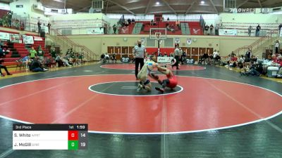 160 lbs 3rd Place - Santino White, Williamsport vs Jack McGill, Spring-Ford