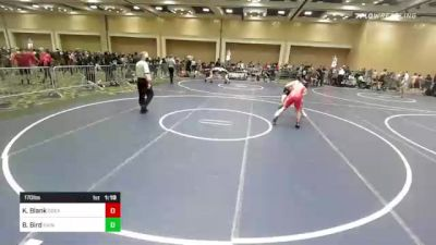 170 lbs Round Of 64 - Koen Blank, Great Oak HS vs Bear Bird, Saint Louis School