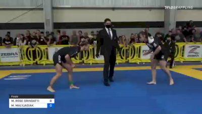 MARGARET ROSE GRINDATTI vs MARIA MALYJASIAK 2021 Pan IBJJF Jiu-Jitsu No-Gi Championship